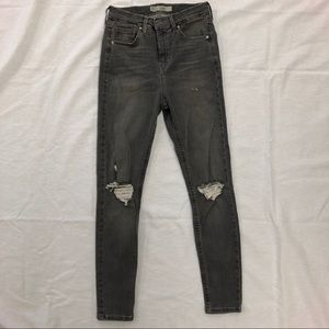 TopShop Moto Jamie High Waisted Gray Jeans